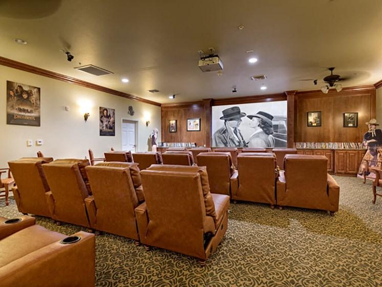 Movie Theater at Legacies Memory Care at San Martin, Las Vegas, NV, 89113
