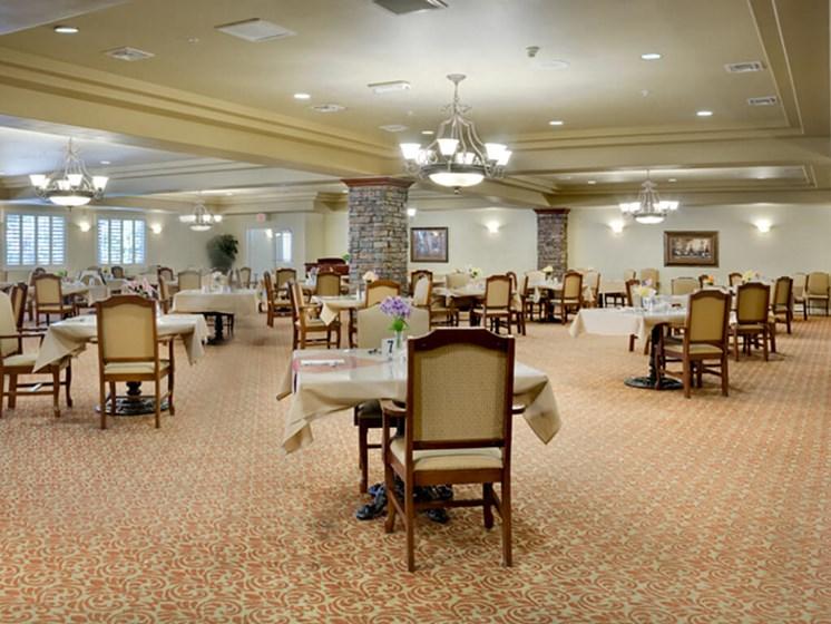 Common Dining Area at Legacies Memory Care at San Martin, Las Vegas, NV