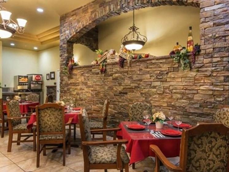Dining Area at Legacies Memory Care at San Martin