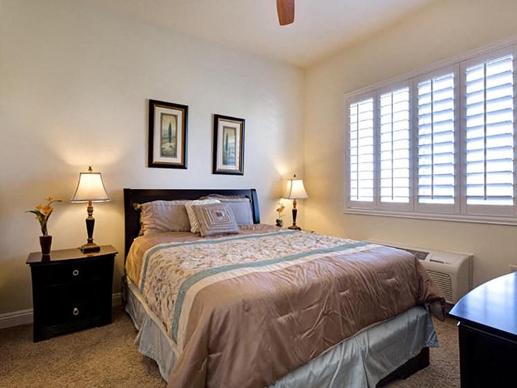 Beautiful Bright Bedroom at Legacies Memory Care at San Martin, Las Vegas, Nevada