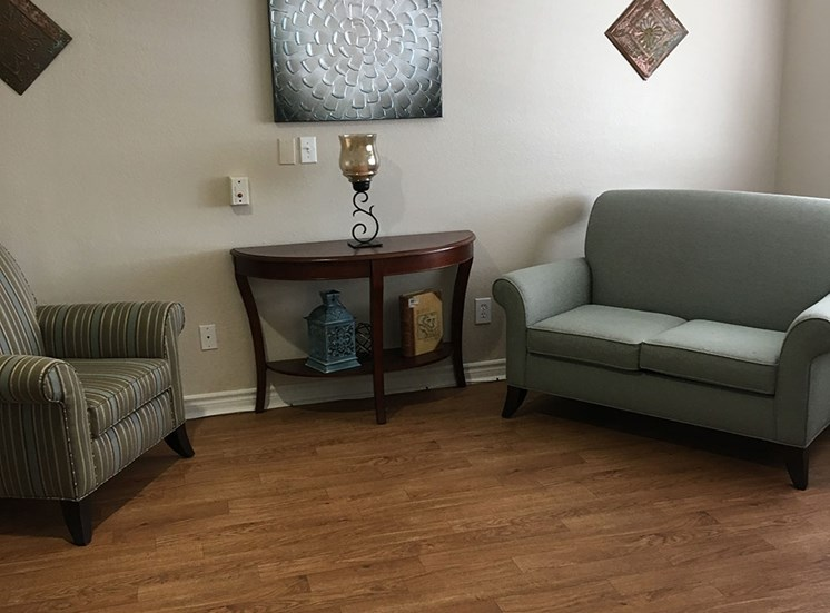 Area for meeting friends and family at Alta Vista Senior Living, California, 92083