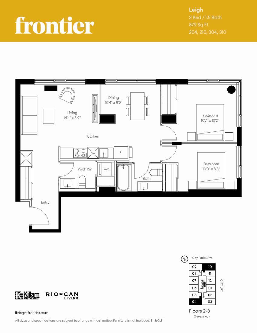 Leigh Floor Plan - 2 Bedroom/1.5 Bath