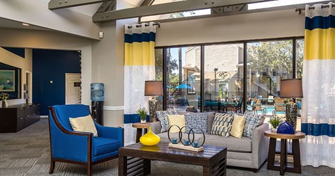 Relax at the Park at Laurel Oaks clubhouse