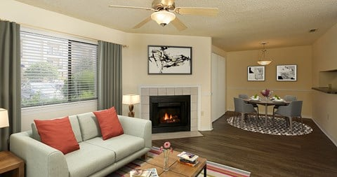 Relax in your living room at The Park at Laurel Oaks