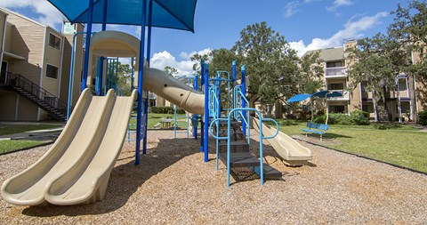 Enjoy an afternoon of fun and laughter at the playground at The Park at Laurel Oaks
