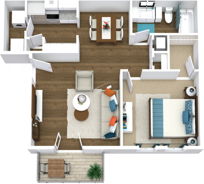 Floor Plans Of The Trails Apartments In Nashville, TN
