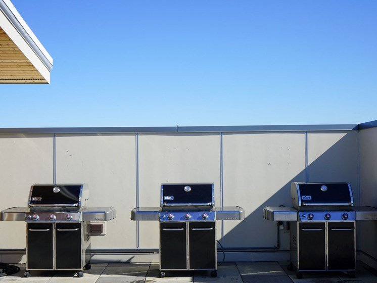 Rooftop BBQ Station at Latitude 47, Washington