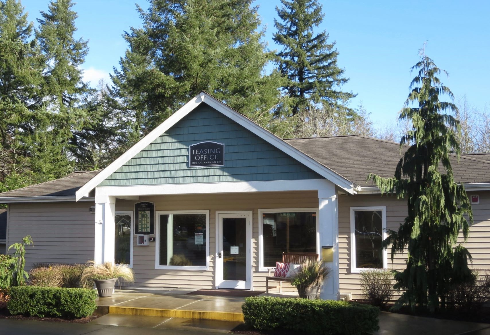 Leasing Center External View at Yauger Park Villas, Olympia, WA