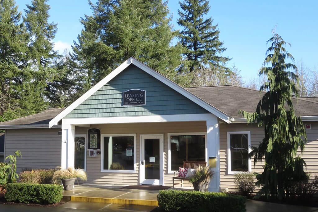 Leasing Center External View at Yauger Park Villas, Olympia, WA