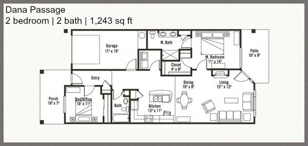 Spectacular 2 Bed 2 Bath Floor Plan at Yauger Park Villas, Olympia, 98502