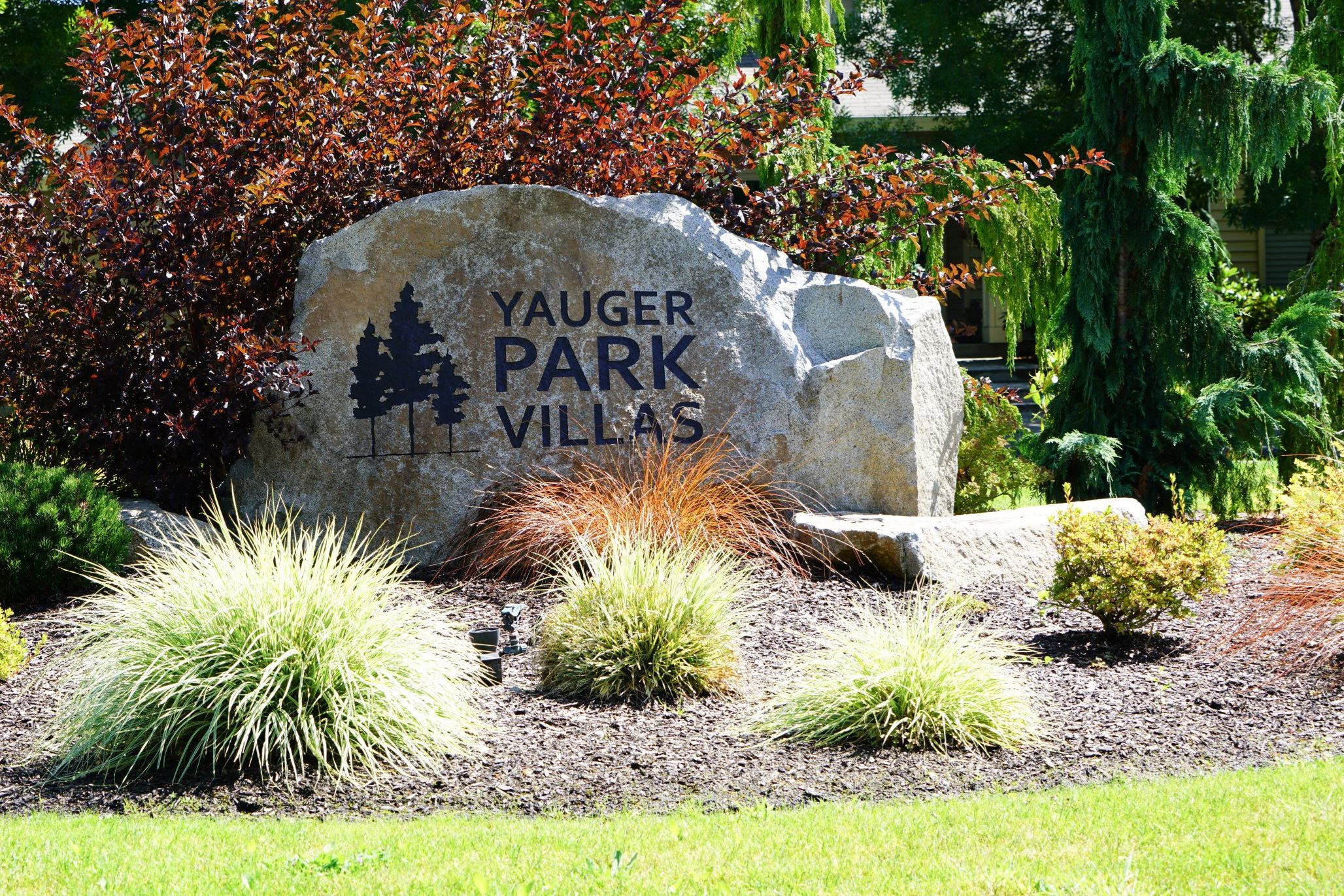 Monument Entrance Signage at Yauger Park Villas, Olympia, WA, 98502