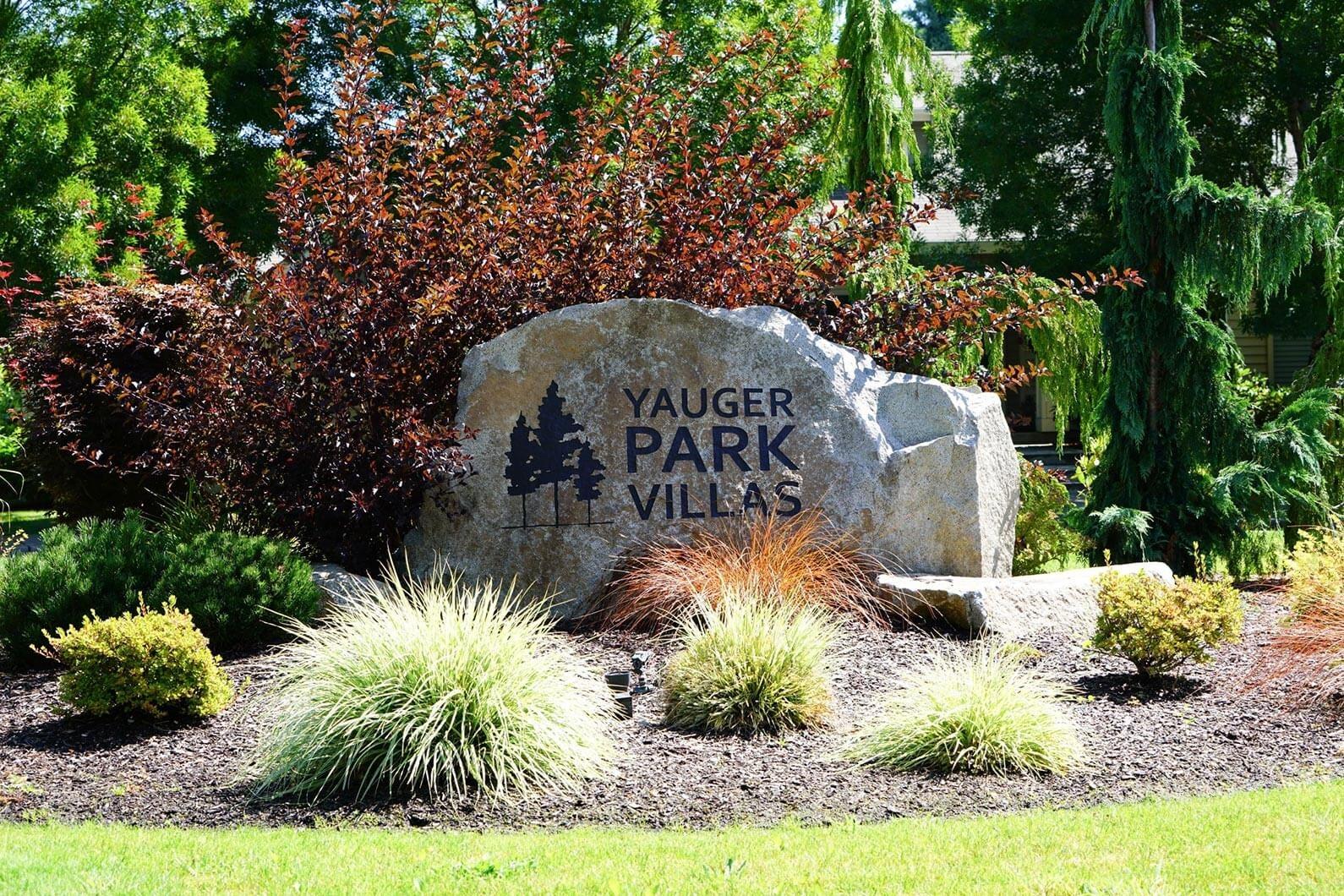 Monument Entrance Signage at Yauger Park Villas, Olympia, WA, 98502
