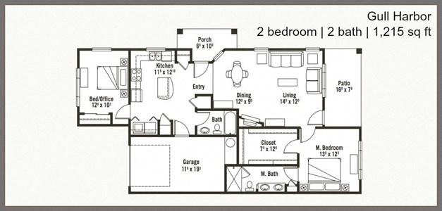 Beautiful 2 Bed 2 Bath Floor Plan at Yauger Park Villas, Olympia