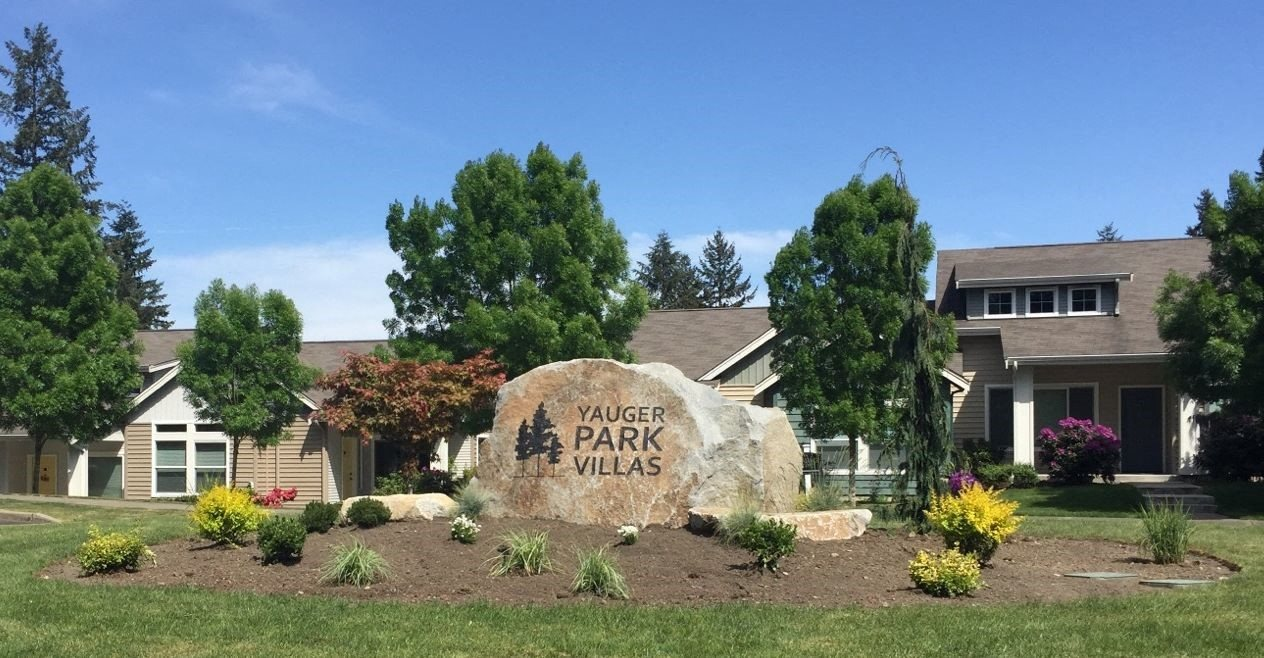 Monument Sign at Yauger Park Villas, Washington, 98502