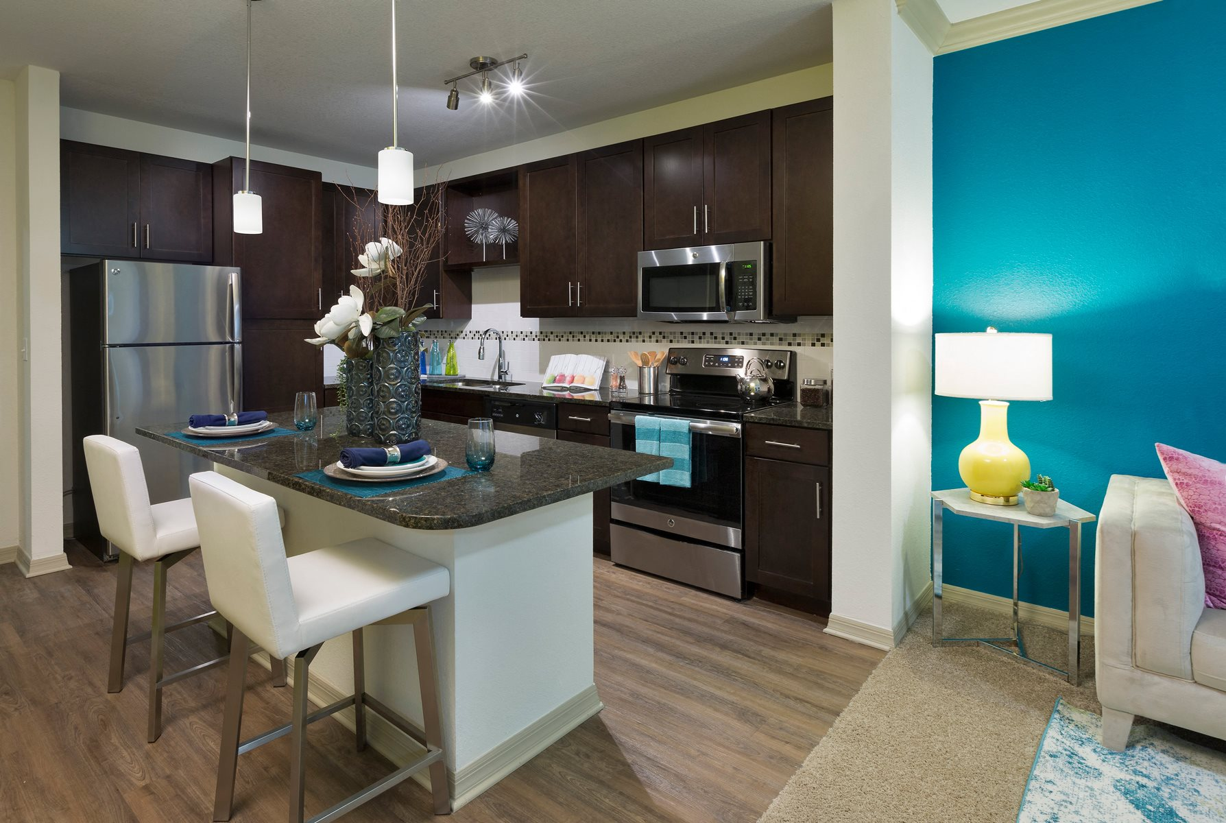 Gourmet Kitchen at Integra 360 Apartments in Winter Springs, FL