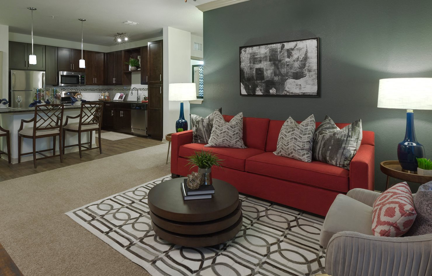 Living Room at Integra 360 Apartments in Winter Springs, FL