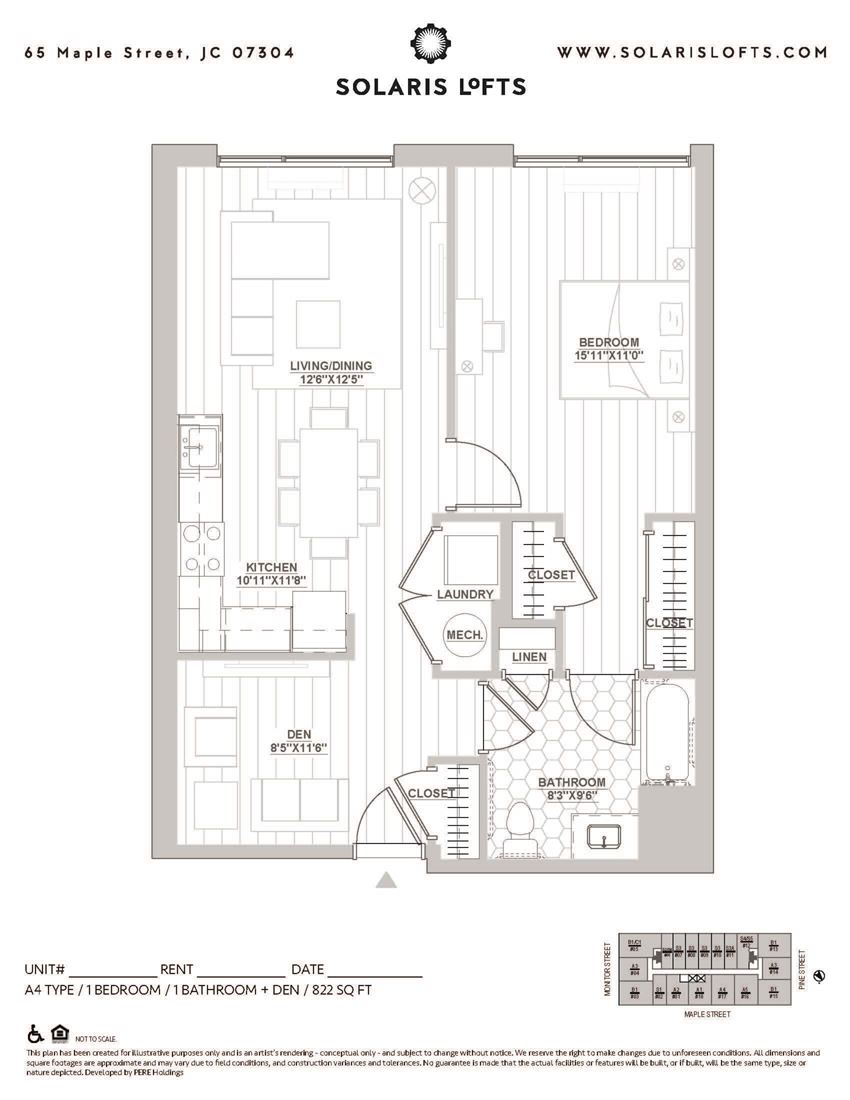 One Bedroom+ Den