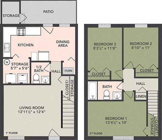 3-Bedroom, 1 1/2-Bath