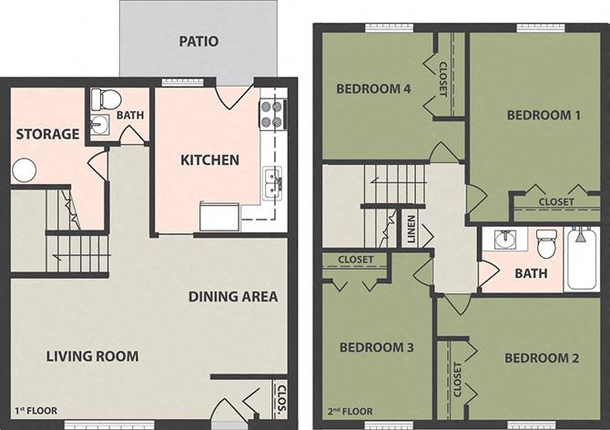 4-Bedroom, 1 1/2-Bath