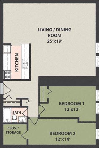 3-Bedroom, 1-Bath