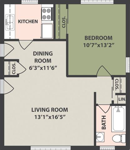 1-Bedroom, 1-Bath