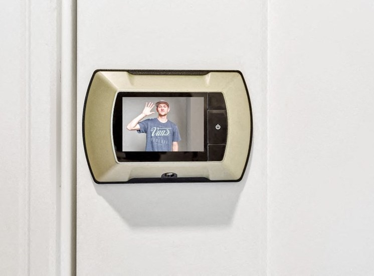 Video Peephole for Each Apartment at the Monarch Luxury Apartments in Des Plaines