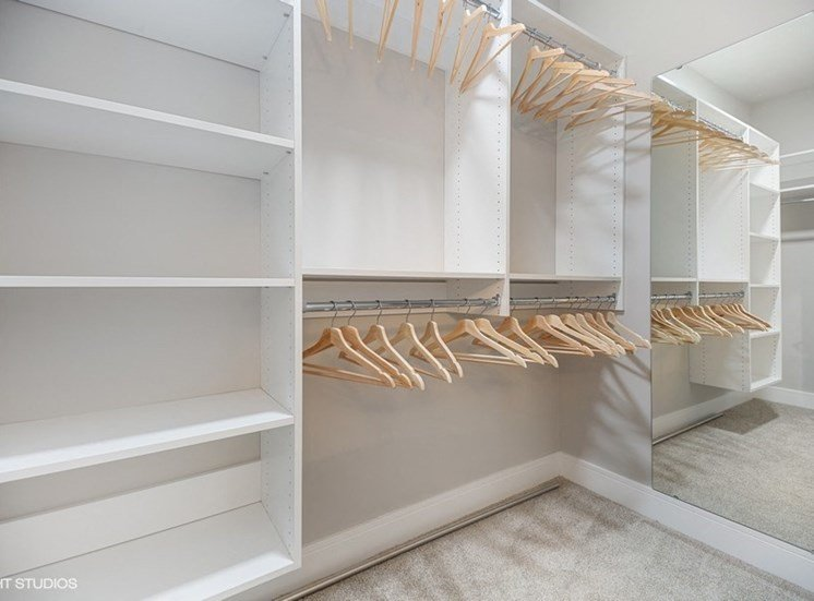 Thoughtfully Designed Closet with Plenty of Space -  the Monarch Apartments in Des Plaines