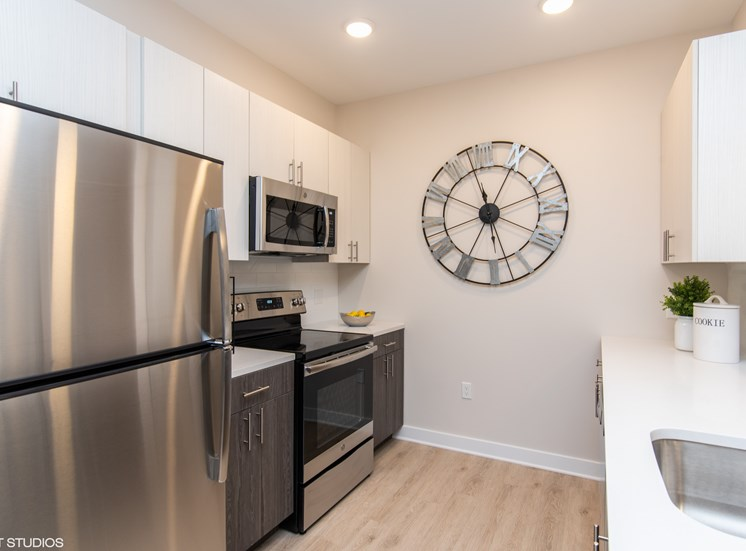 Stainless Steel Appliances in the Large Kitchen Space in Our Apartments in Windsor, CT