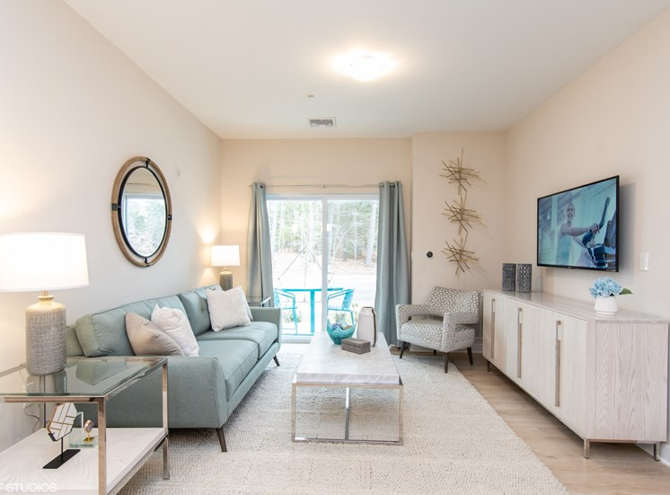 Bright and Spacious Living Area  at The Preserve at Great Pond Apartments in Windsor, CT