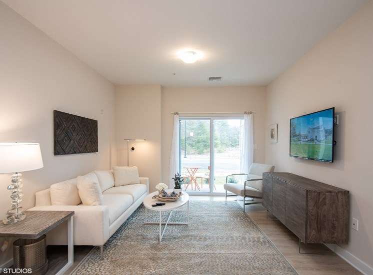 Bright Living Room Space at the Preserve at Great Pond Apartments in Windsor, CT