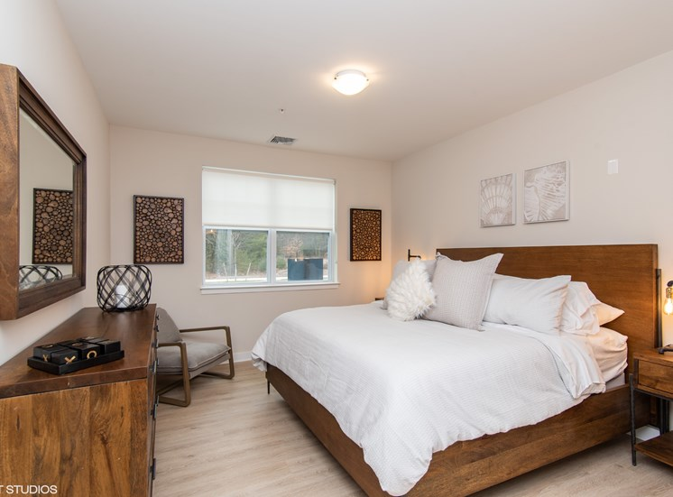Spacious Bedroom with Contemporary Design at the Preserve at Great Pond Apartments in Windsor, CT