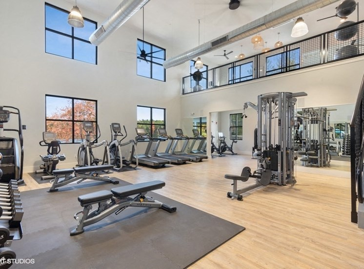 Beautiful State-of-the-art Fitness Center at the Preserve at Great Pond Apartments in Windsor, CT