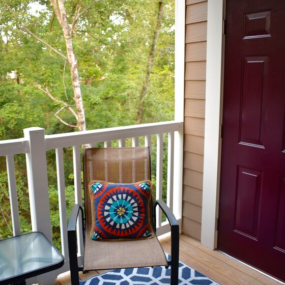patio with chair