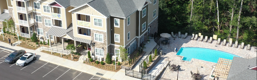 exterior of apartment building | Villas at Mallard Creek