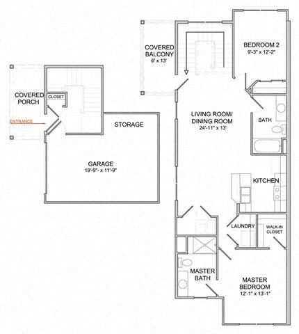 2 Bedroom/2 Bath/2nd Floor