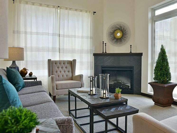 Living Room at Rose Senior Living – Carmel, Carmel, IN