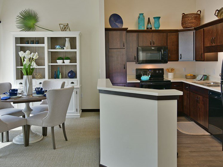 Kitchen and Dining Area at Rose Senior Living – Carmel, Carmel, Indiana