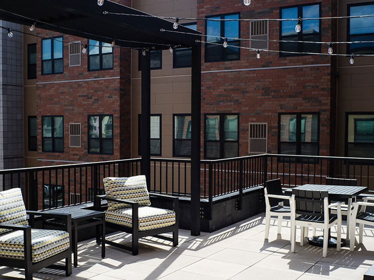 Rooftop Patio at Rose Senior Living – Carmel, Carmel, IN
