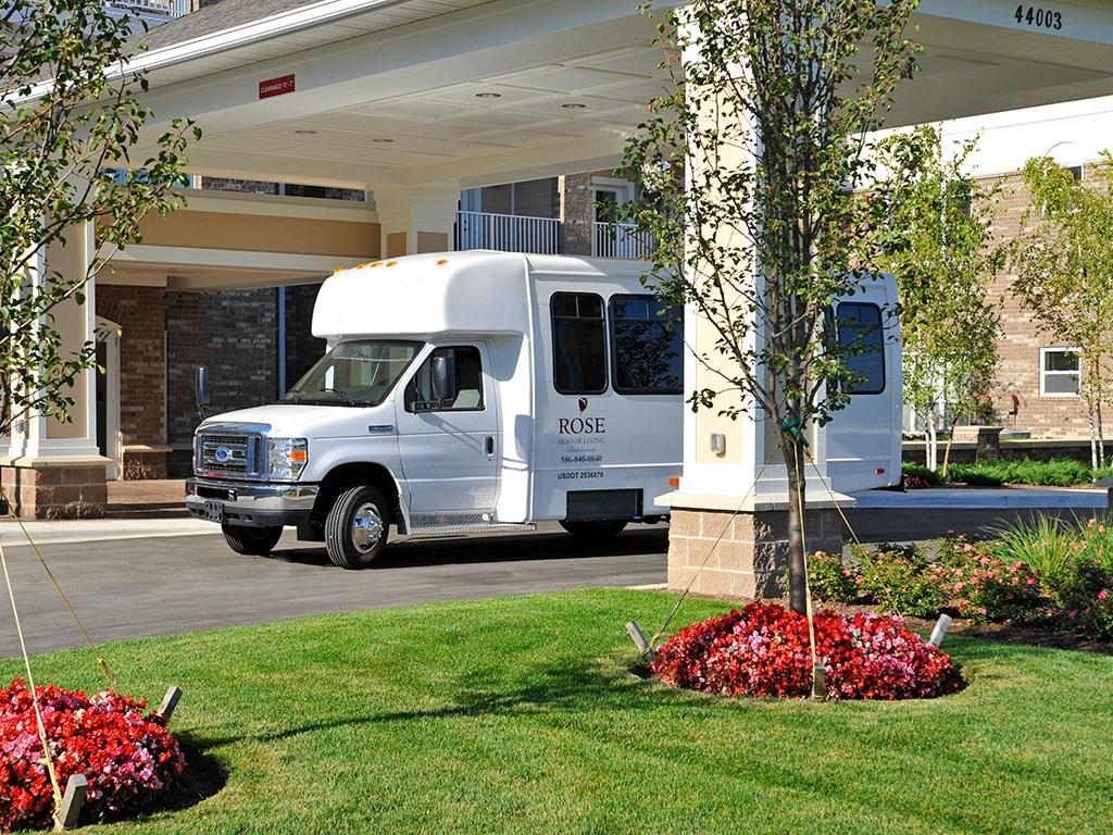 Front Entrance at Rose Senior Living – Clinton Township, Clinton Township, Michigan