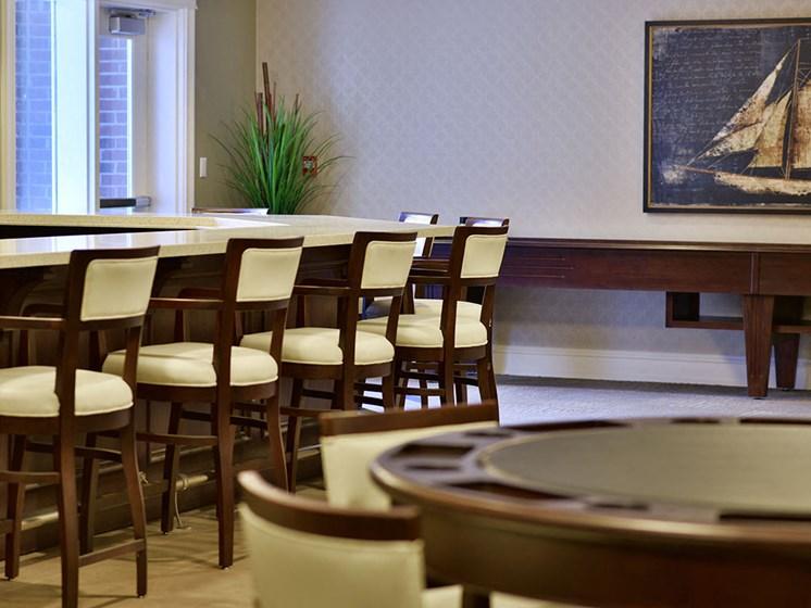 Classy Wooden Furniture at Rose Senior Living at Providence Park, Novi, MI