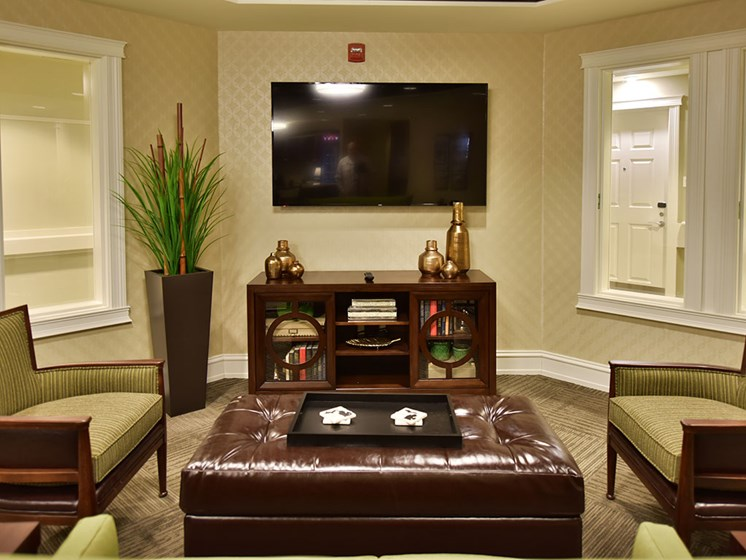 Television In Clubhouse at Rose Senior Living at Providence Park, Novi, 48374
