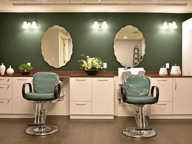 Styling Salon at Rose Senior Living at Providence Park, Michigan