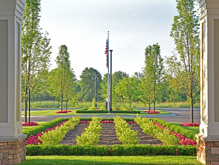 Well Maintained Garden at Rose Senior Living at Providence Park, Michigan
