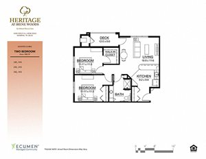 AL Floor Plan at Heritage at Irene Woods, Memphis