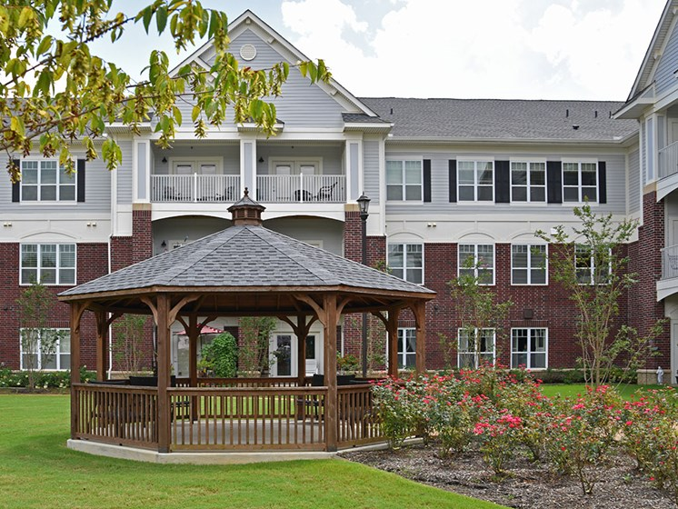 Gardens and Gazebo at Heritage at Irene Woods, Memphis