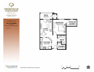 Devonshire floor plan at Heritage at Irene Woods, Memphis