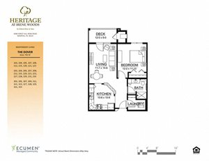 Dover floor plan at Heritage at Irene Woods, Memphis
