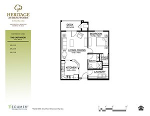 Eastwood floor plan at Heritage at Irene Woods, Memphis