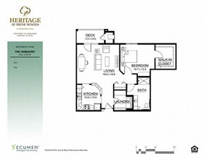 Fairmont floor plan at Heritage at Irene Woods, Memphis