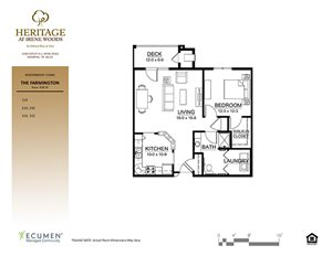 Farmington floor plan at Heritage at Irene Woods, Memphis